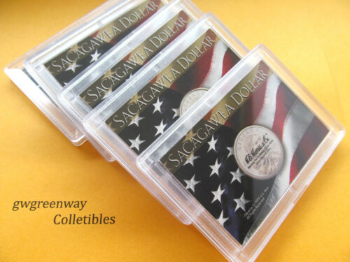 2 x3  Sacagawea Dollar Holder LOT 5 Harris Frosty Case #5360