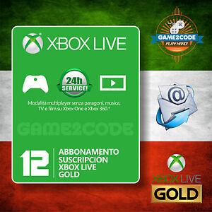 ABBONAMENTO 12 MESI ANNUALE XBOX LIVE GOLD PER XBOX con Sconto €10,00 - LEGGI!