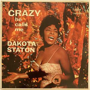DAKOTA STATON CRAZY HE CALLS ME LP CAPITOL 1959 MONO UK EXPORT 1N/1N MATRIX