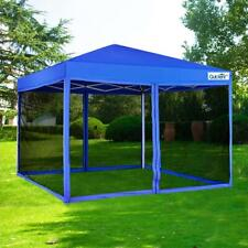 Quictent 8x8 EZ Pop Up Canopy Tent with Netting Screen House Mesh Sides Green