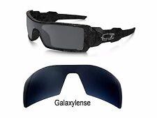 Galaxy Replacement Lenses For Oakley Oil Rig Sunglasses Black Iridium Polarized