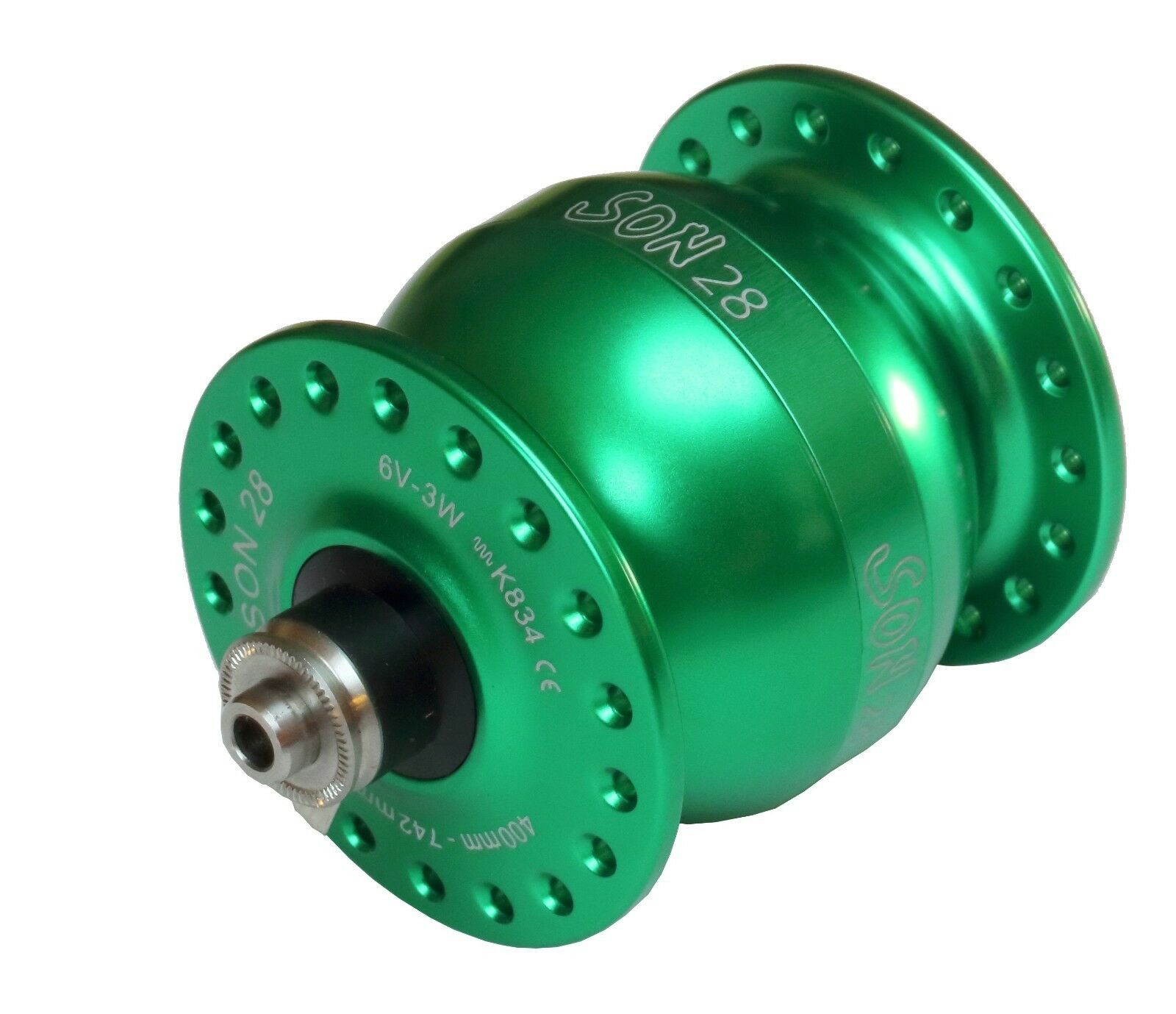 Hub Dynamo Son 28 New 36hole verde for VBrake 36Hole