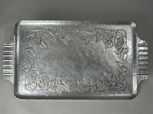 World Hand Forged Aluminum Grapevine Bread Tray