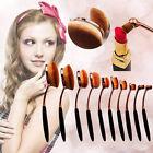 Pro Toothbrush Makeup Brushes Eyebrow Oval Powder Cream Foundation Brush YK