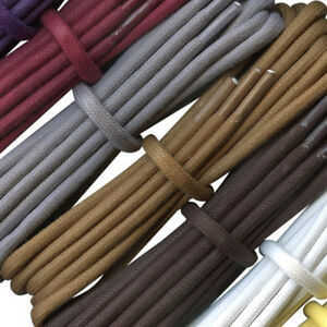 100% authentic sold worldwide buying now Thick Round Boot Laces - Waxed Cotton Laces - 4.5 mm - natural ...