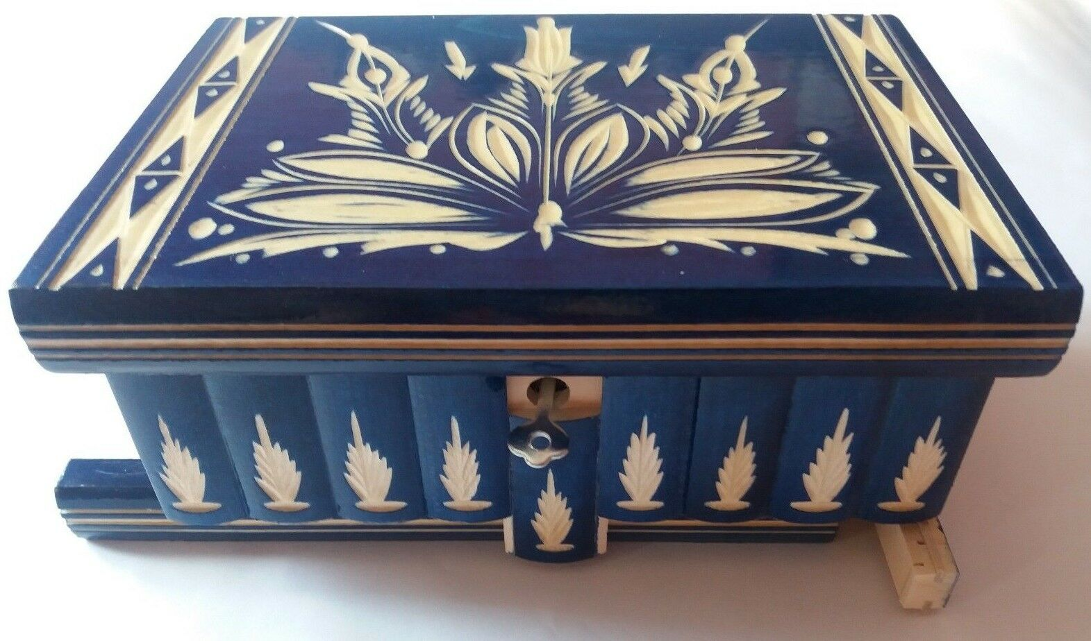 New big huge blu jewelry magic puzzle box adventure challenge hidden drawer toy
