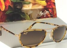NEW maui jim polarized sunglasses Small Kine Tortoise HCL Bronze Polarized New
