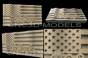 3D-STL-Model-for-CNC-Router-Engraver-Carving-Artcam-Aspire-USA-Flag-America-D8