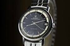 Universal Geneve Early Series Polerouter Automatic Black Dial Pre Gerald Genta