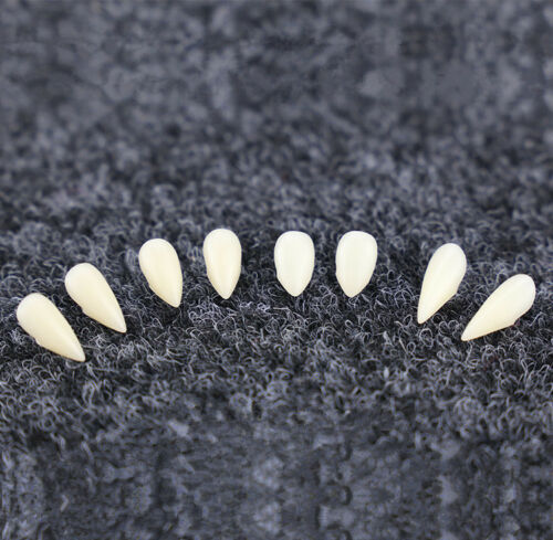 2Pcs Teeth with Dental Gum Fangs Vampire Teeth Halloween Costume Cosplay Party