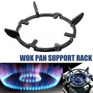 Wok Stands Cast Iron Wok Pan Support Rack For Burners Protective Gas Hobs Black