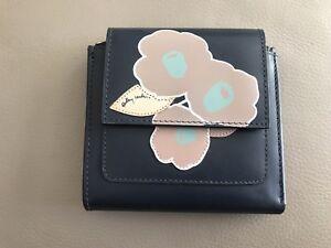 Flap Bnwot Medium Purse Radley Beautiful Ink Row Blue Leather Over Eden FwaSU4aq