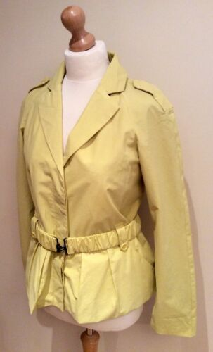 Size Cotton Belt Jigsaw Yellow Nylon 10 Coat pEwPq0