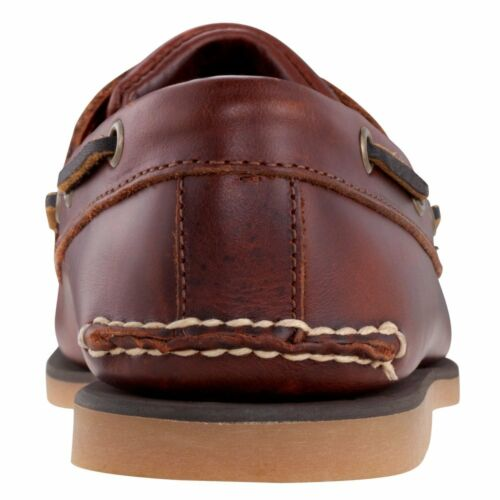 N55 25077 Classic Mens Boat Shoes Timberland Classic 2 Eye Brown