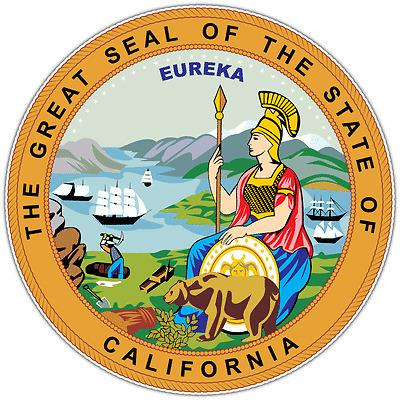 "California State Seal USA Car Bumper Window Locker Vinyl Sticker Decal 4.6/""X4.6/"""