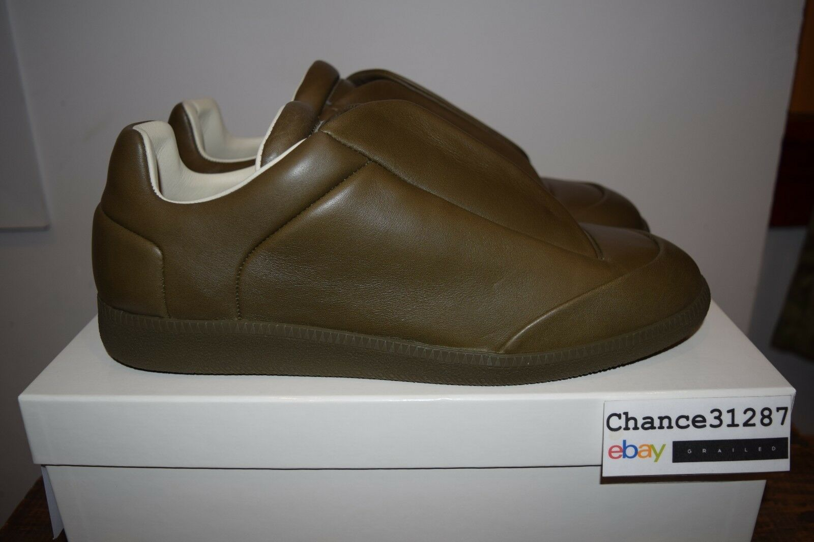Maison Margiela 22 Leather Future Low Sneakers in Truffle sz. 44   11 DS