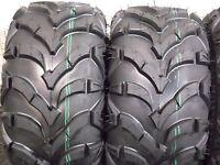 22x10-9 Honda Recon 250 Quadking ( 6 Ply ) Atv Tires ( 2 Tire Rear Set ) 22-10-9