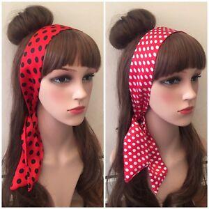 Black Spotty Headband Hairband Hair Tie Band Polka Dot