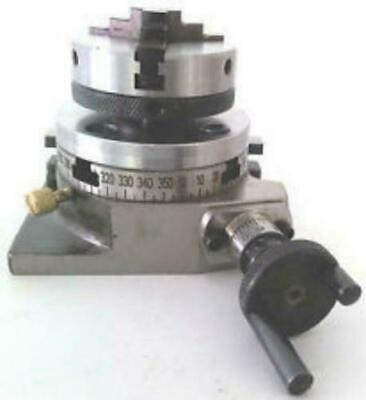 """ROTARY TABLE 4/"""" TILTING BACKPLATE 80 MM SELF CENTERING CHUCK"""