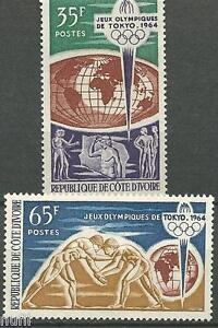 Costa De Marfil Cote D'ivoire Yvert # 225/226 ** Mnh Tokyo 1964
