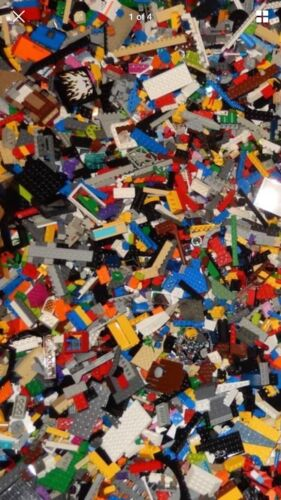 Lego Lot of 200 Pieces Parts Bricks Random From Huge Bulk Assorted Clean
