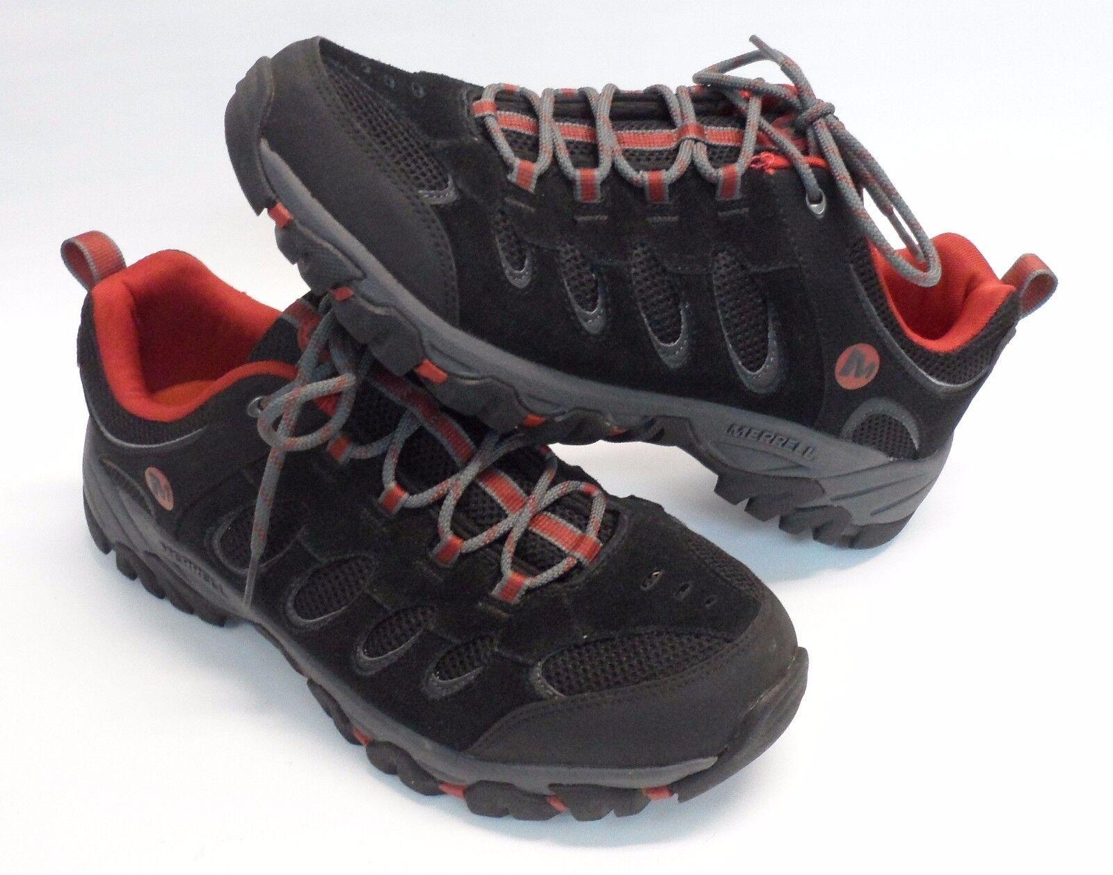 Para Hombre Merrell ocre ridgepass Suede Senderismo Zapatos Negro EE. UU. 44.5 EUR