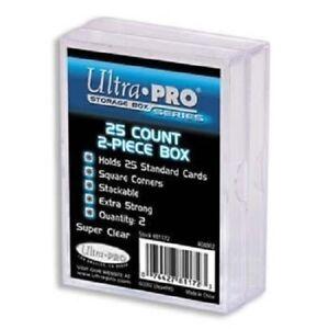 2-Pack-Ultra-Pro-2-Piece-Plastic-Card-Storage-Box-25-Count-Size-Slider-Box