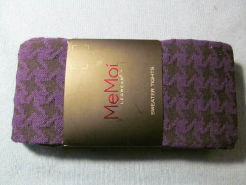 MeMoi Cotton Blend HOUNDSTOOTH Sweater Tights CHOOSE COLOR size Medium Large NWT