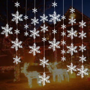 30PCS-Winter-Snowflakes-Hanging-Window-XMAS-Christmas-Tree-Festival-Party-Decor