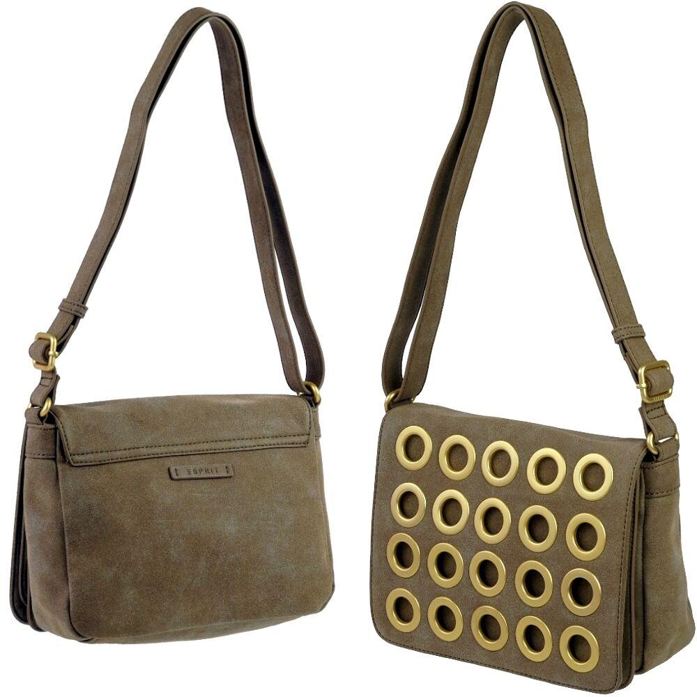 02210596fccda ESPRIT Design Damen-Tasche Handtasche Handtasche Handtasche Crotver  Schultertasche Applikationen NEU