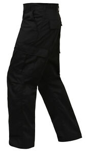 Cargo 2971 Rothco Fly Style Bdu Fit Relaxed Zipper Black Pants PpIwqR