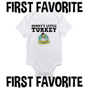 53c41d0ad Mommy's Little Turkey Baby Onesie Shirt Thanksgiving Mom Mother ...