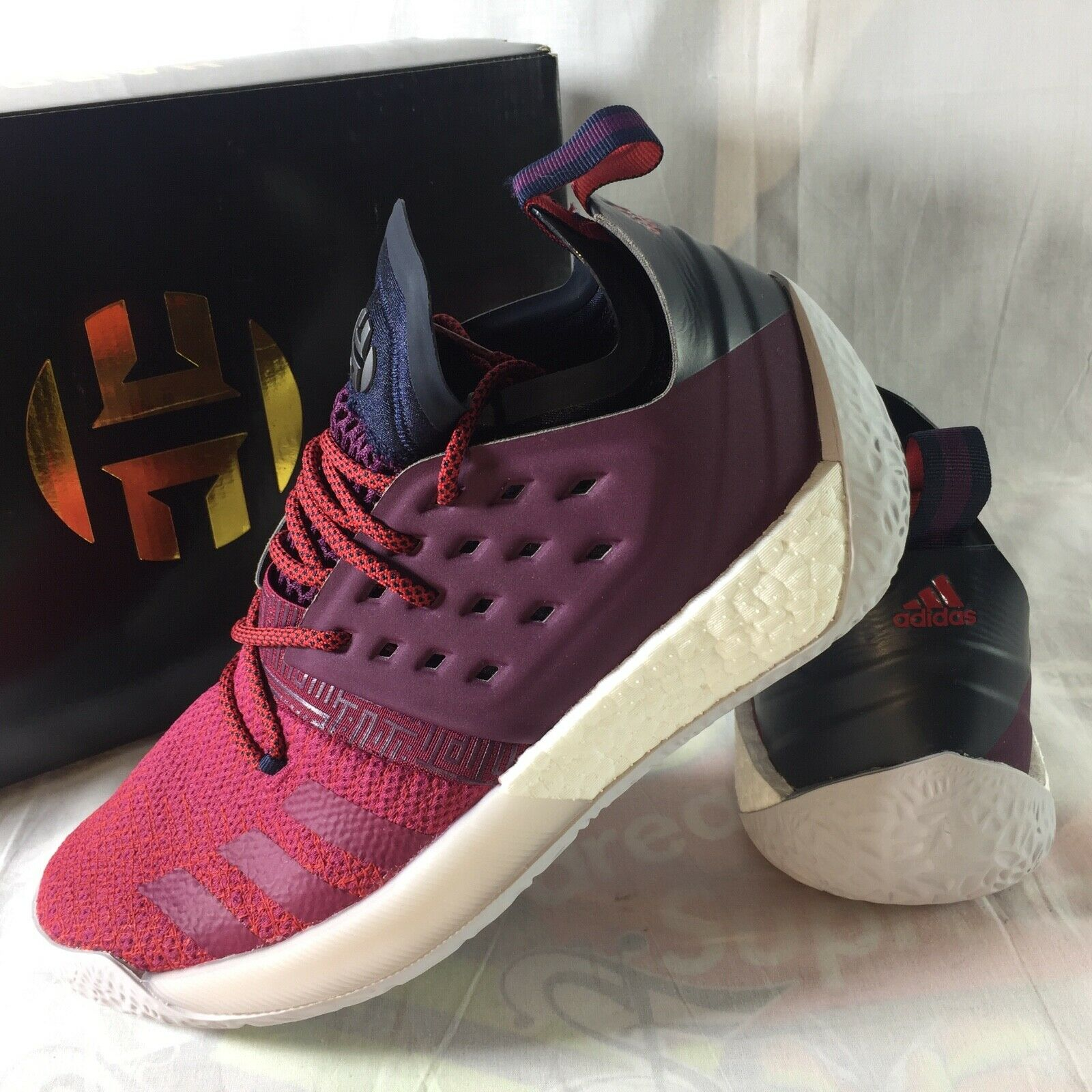 Adidas Harden Vol. 2 Men's Size 9 Boost Basketball shoes Sneakers NEW AH2124