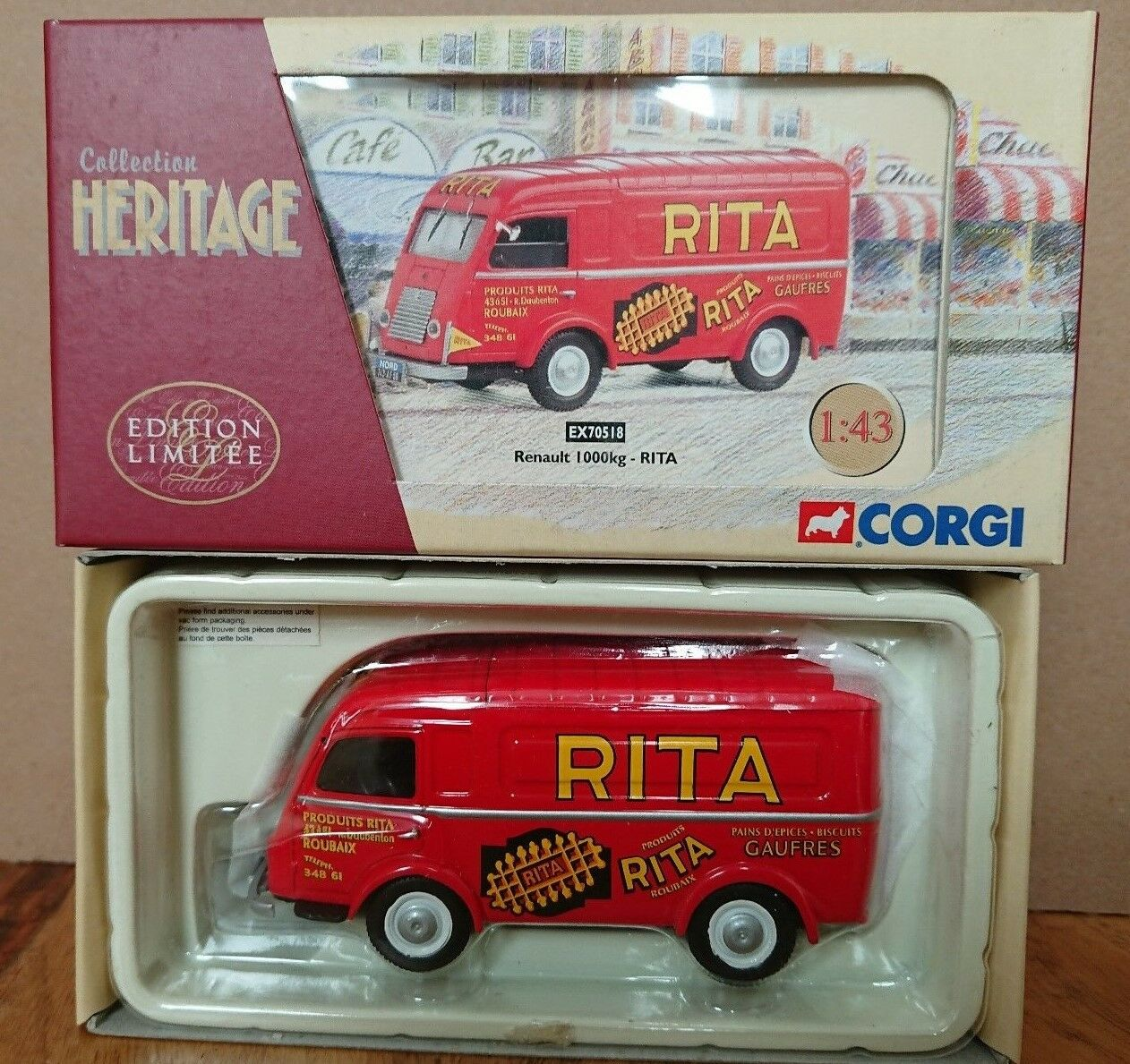 Corgi EX70518 Renault 1000kg RITA Ltd Edition No. 0002 of 2800