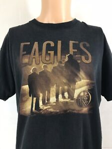 Vintage-original-Eagles-Long-Road-Out-Of-Eden-Concert-Tour-T-Shirt-Size-Large