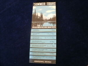 Vtg 1941 Chicago North Western Union Pacific Railroad Summer Tours Brochure R157