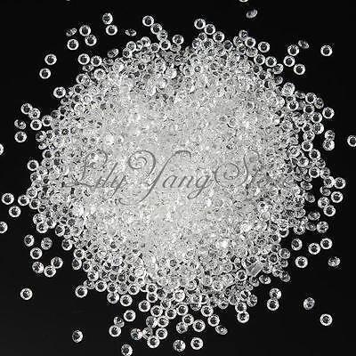 2000 Wedding Decoration Scatter Table Clear 4.5mm Crystal Diamond Confetti Decor