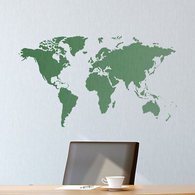 World Map Stencil - Feature Wall Art - DIY Laser Cut Mylar Map Template |  eBay