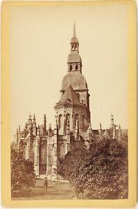 Dinan-Saint-Sauveur-Giardino-Duchessa-Anne-Francia-Foto-Vintage-Albumina-c1880