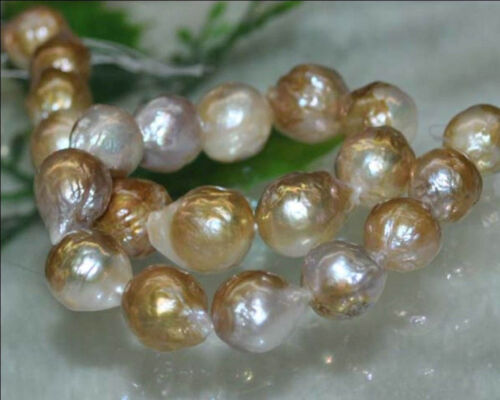 Natural Rare AAA 12-13MM South Sea pearl LOOSE BEADS 15 inch
