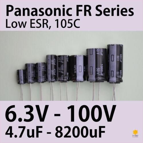Fr Panasonic 6.3V-100V 4.7uF-8200uF Baja Esr Capacitores de 105 ° C 4 piezas