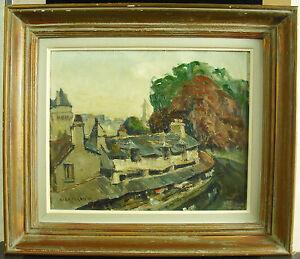 Rene-Leforestier-Washtub-of-The-Garenne-IN-Tse-Morbihan-Brittany-Painting-c1950