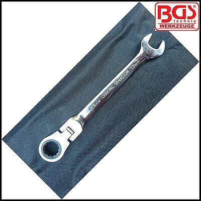 15 mm Ratchet Flexi Head Combi Spanner 30002-15 Pro 72 Tooth Drive BGS