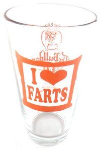 I-Love-Farts-The-Bulldog-Bar-Jackson-MS-Pint-Glass-Red-Heart-Mississippi-Draft