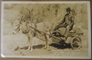 Estate-Sale-Vintage-Real-Photo-Postcard-Nevada-Prospector-Off-For-The-Hills