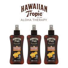 Hawaiian Tropic Dry Tanning Spray Oil SPF 8 x3