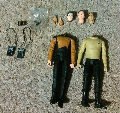 Art Asylum Star Trek Action Figure Parts Lot