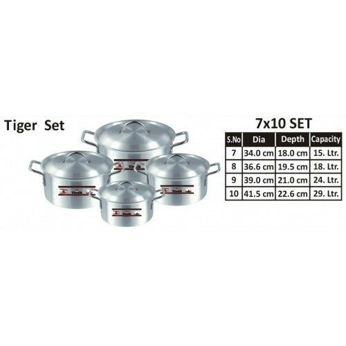 Cooking Pots made by Aluminium Tiger (Größe   7, 8, 9, 10) (Free post in UK)