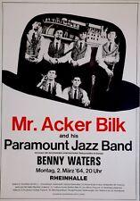 MR. ACKER BILK - 1964 - Konzertplakat - Benny Waters - Jazz