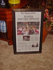 BOSTON RED SOX FRAMED NEWSPAPER 2013 WORLD SERIES CHAMPIONS ORIGINAL